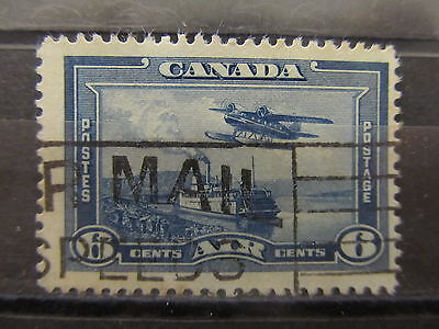 A2P30 CANADA AIR POST STAMP 1937-38 6c USED #1