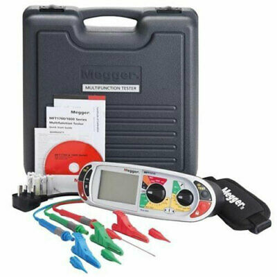 Megger MFT1711 18th Edition Multifunction Installation Tester w/ Clips and Leads