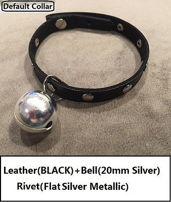 handmade Leather Cat Kitten Pet Collar with Bell - Express Dispatch