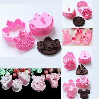 Bear Chippy Miffy Jingle Marie cat Cartoon Fondant Cake Cookie Cutter Mould