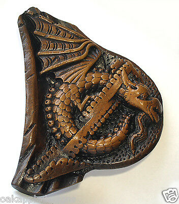 Celtic Dragon Mythical creature Reproduction Medieval Church Carving Gothic gift