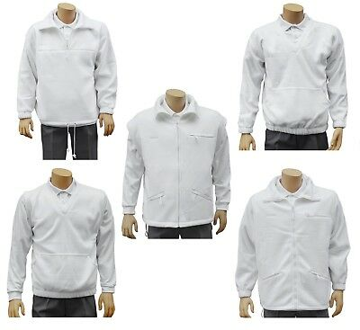 CATHEDRAL Arcticfleece Jumper Jacket Top Mens Bowls Polyester Fleece White