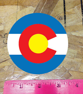 CO Colorado State Flag round circle sticker decal