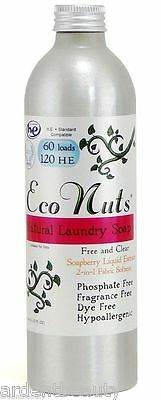 Eco Nuts Natural Liquid Soapberry Laundry Soap, 60-240 Loads, 10 oz Concentrate