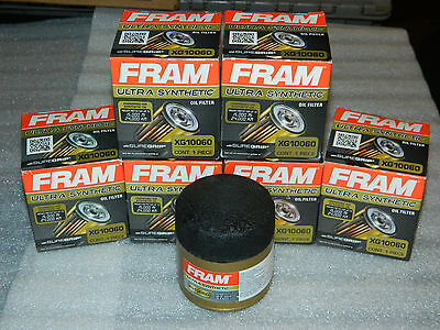 CHOICE 1, 2, 3, 4 or 6 BRAND NEW FRAM XG10060 ULTRA SYNTHETIC ENGINE OIL FILTER