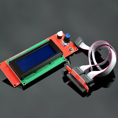 LCD Display Controller 2004 For RAMPS1.4 Reprap 3D Printer with Adapter
