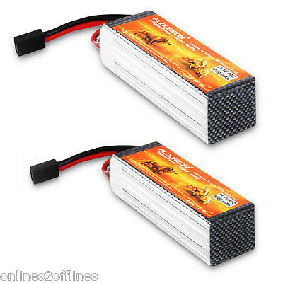 2x 8000mAh 3S 11.1V 40C Lipo RC Battery Pack for RC Helicopter Airplane Hobby AU