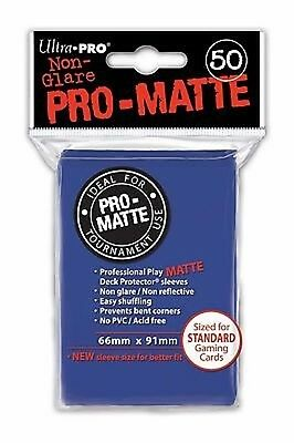 50 Bustine Protettive Ultra PRO Magic PRO MATTE Blue Blu Sleeves Buste 66x91 MTG