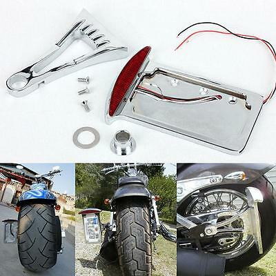License Plate Holder Side Mount Tail LED Brake Light 4 Harley Davidson Chopper