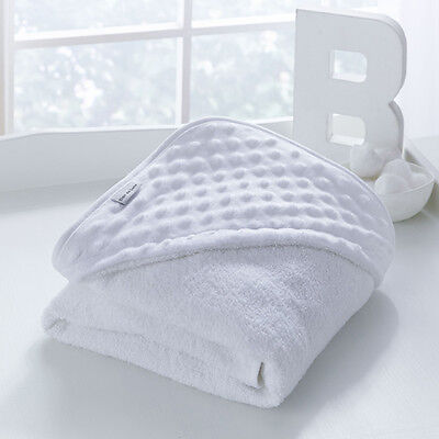Clair de Lune Luxury Dimple Hooded Towel, White