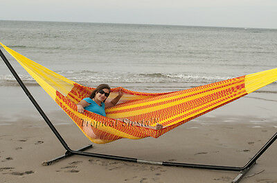 Sleep Cozy for TWO in this NEW Handmade Mayan Mexican COTTON FAMILY HAMMOCK