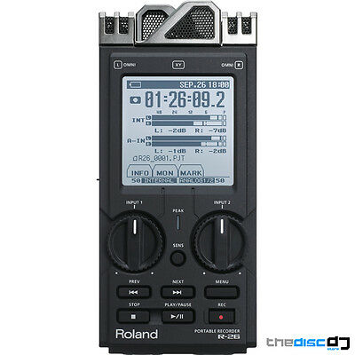 Roland R-26 6 Channel Handheld Digital Audio SD Card Field Recorder