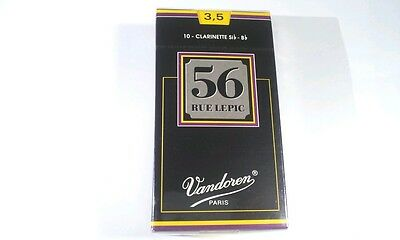 ~VANDOREN 56 RUE LEPIC Bb Clarinet Reeds 3 1/2 CR5035, Box of 10~FREE SHIPPING~
