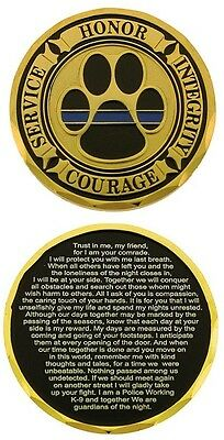 Service Honor Integrity Courage K-9 Prayer Challenge Coin - Individual
