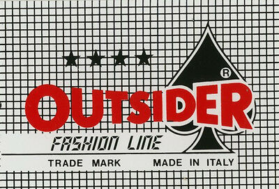 Sticker: Outsider Fashion Line. Made in Italy.