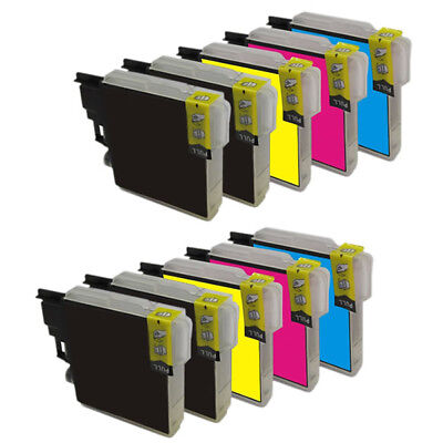 10 tinta compatible LC1100 non oem para Brother MFC5895CW MFC6490CW MFC6890CW