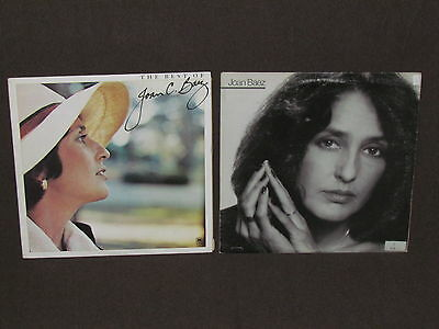 JOAN BAEZ 2 LP RECORD ALBUMS LOT COLLECTION Vintage Folk BEST OF/HONEST LULLABY
