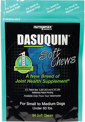 Nutramax Dasuquin 84 Soft Chews for SM/MED Dogs Joint Health Exp. 05/2018