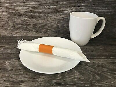 MH Paper 4.25 X 1.5 Rust Napkin Bands (4000) Self Adhesive Ships Free($0.006/pc)