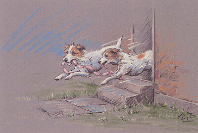 """PARSON JACK RUSSELL TERRIER DOG ART LIMITED EDITION PRINT - PJRT  """"Sausage Dogs"""""""