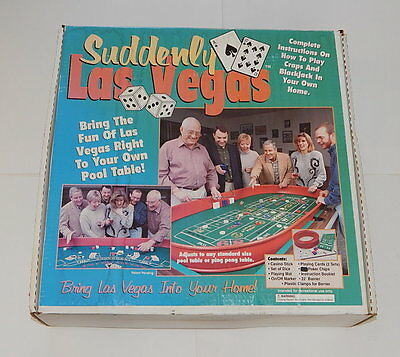 Suddenly Las Vegas Blackjack And Craps Table Top Set In Box R10126