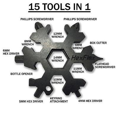 HexFlex Stocking Stuffer for dad!!  Multi Tool. Metric Wrenches. Black Oxide.