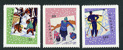 Weeda Canada 2184i-2186i VF NH Die cut Christmas singles, from Annual Collection