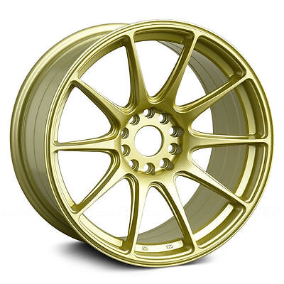 17 Inch Xxr 527 Gold Wheels And Tyre Package Stretch Drift Style