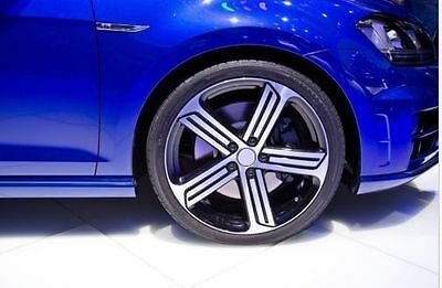 19 Inch Vw Golf 7 Style Machine Black Wheels And Tyre Package Deal Golf Jetta