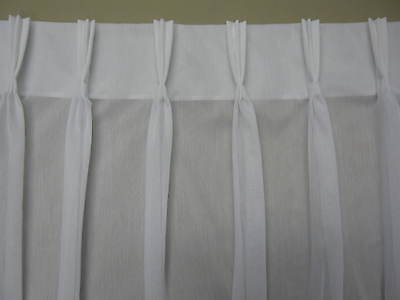 WHITE PINCH PLEAT SHEER CURTAIN 2mts wide 130cm LTH - Can Custom make to SUIT