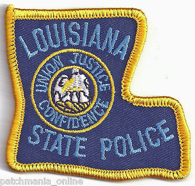 LOUISIANA STATE POLICE - POCKET/HAT SIZE - IRON or SEW-ON PATCH