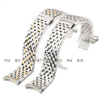 Quality Solid Steel Strap Bracelet Replacement Watch Band For OMEGA DE VILLE