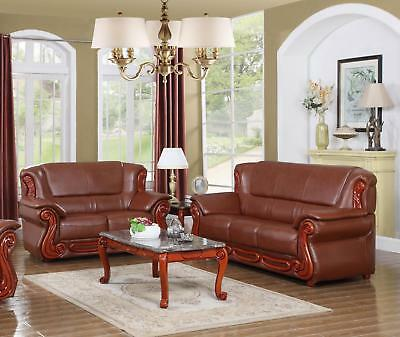 Enjoyable Meridian 632 Bella Brown Bonded Leather Living Room Set 2Ps Pabps2019 Chair Design Images Pabps2019Com