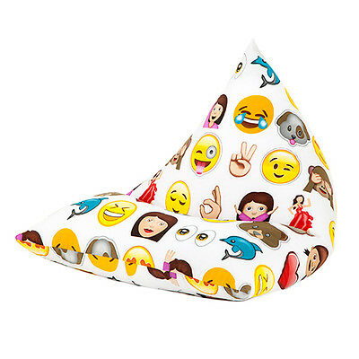 Emoji Emoticons Large Childrens Kids Pyramid Bean Bag Chair Gaming Beanbag Gamer