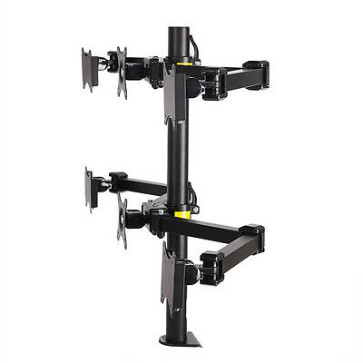 """FLEXIMOUNTS Adjustable Hex LCD Arm Monitor Desk Mount Stand 6 Screens up to 24"""""""