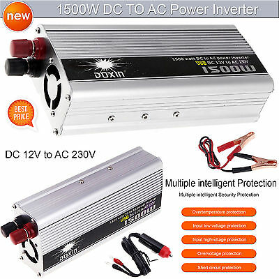 Auto Car Power Inverter 1500W(3000W Peak)DC 12V to 230V Modified Battery Charger