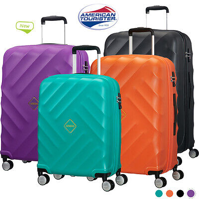 American Tourister Crystal Glow  4 Wheel Spinner Cabin Luggage Suitcase