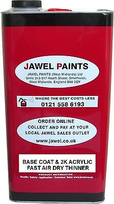 Car Paint THINNERS Jawel 2K Acrylic and Basecoat 5lt Size
