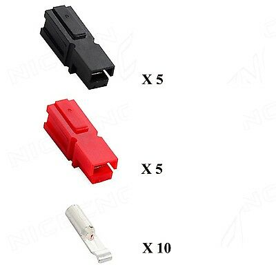 5pairs 30A Amp 600V Power Marine Connector Pole Red Black For Anderson Powerpole
