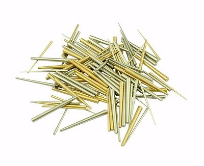 Assorted Pack of 100 Brass and Steel Tapered Pins Clock Repairs Parts X1159 • EUR 8,21