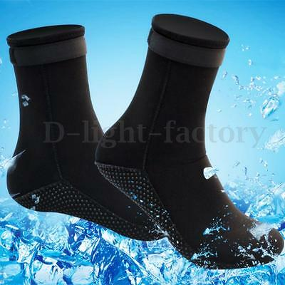 Unisex 3mm Neoprene Diving Scuba Surfing Snorkeling Swimming Sports Socks S-XL