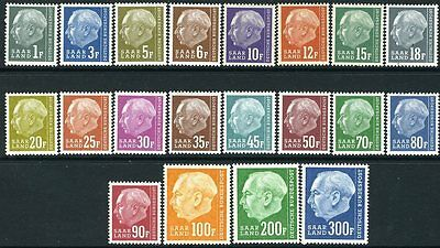 GERMANY (SAAR)-1957 Redrawn Set to 300f Sg 406-425 UNMOUNTED MINT V10559