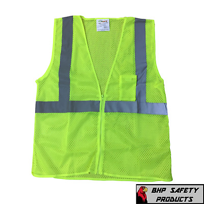 LARGE ANSI CLASS 2/ Reflective Tape/ High Visibility Yellow Safety Vest