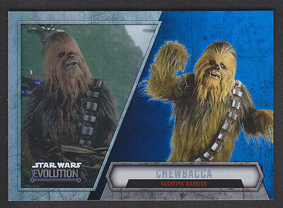 Topps Star Wars - Evolution 2016  - # 55 Chewbacca - Blue Parallel