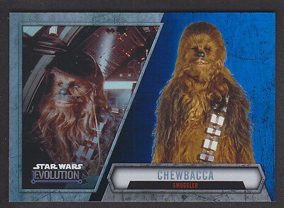 Topps Star Wars - Evolution 2016  - # 56 Chewbacca - Blue Parallel