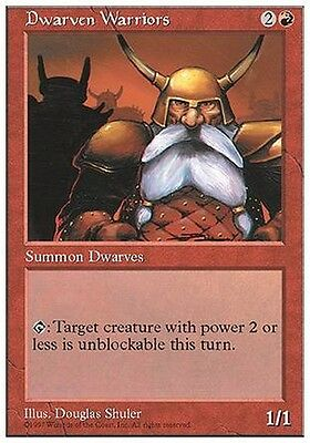 4x Nani Guerrieri - Dwarven Warriors MTG MAGIC 5E Eng