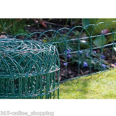 10M X 0.25M Pvc Coated Garden Border Wire Grass Fence Fencing Lawn Edge Flower