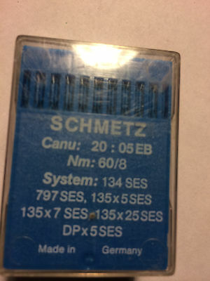 100 pc SCHMETZ sewing machine needles 134 SES 135x5 SES DPx5 SES NM 60/8