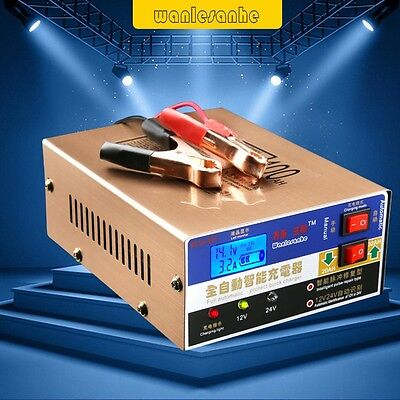 Full Automatic Intelligent Pulse Car Motorcycle Lead Acid Quick Battery Charger