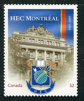 Weeda Canada 2209i VF NH Die cut 52c HEC Montreal single, from Annual Collection